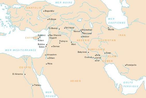 Mesopotamie geografisch