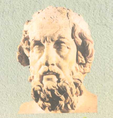 Homerus, auteur van de Ilias en Odyssee