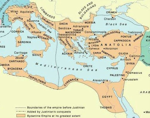 Byzantium in de zesde eeuw na Christus